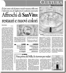 2011.02.20 articolo del gazzettino restauri san vito